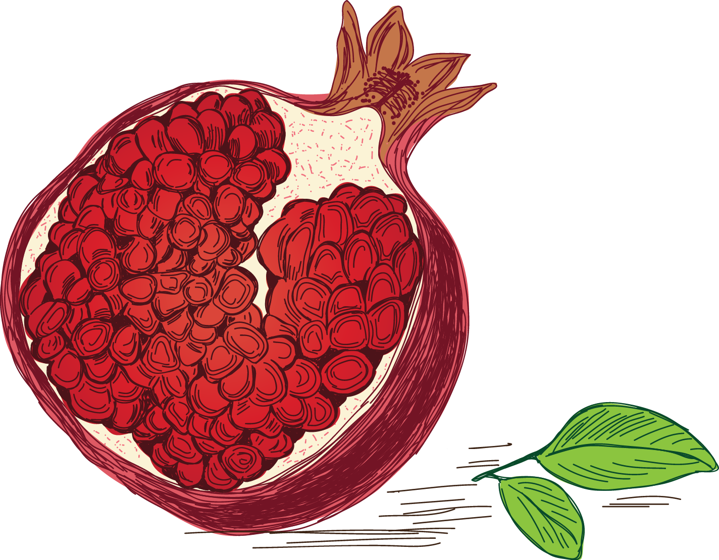 pomegranate colored
